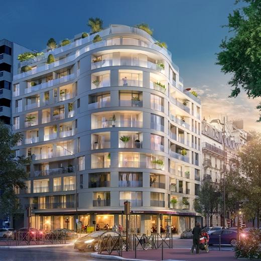 façade programme 69 Michel Ange, immeuble Paris 16