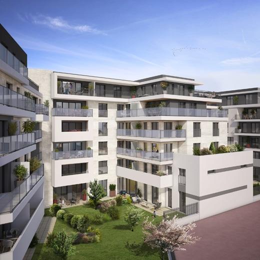 façade programme Cascade, immeuble Chatenay-Malabry, Erisma